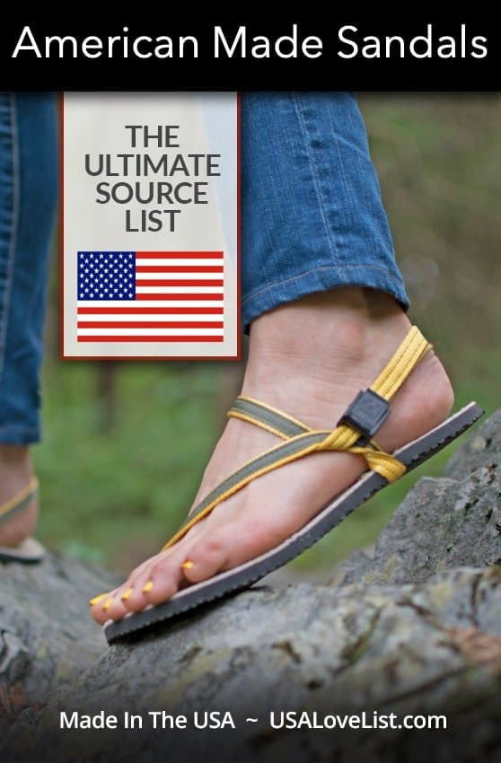 Source List For American Made Sandals