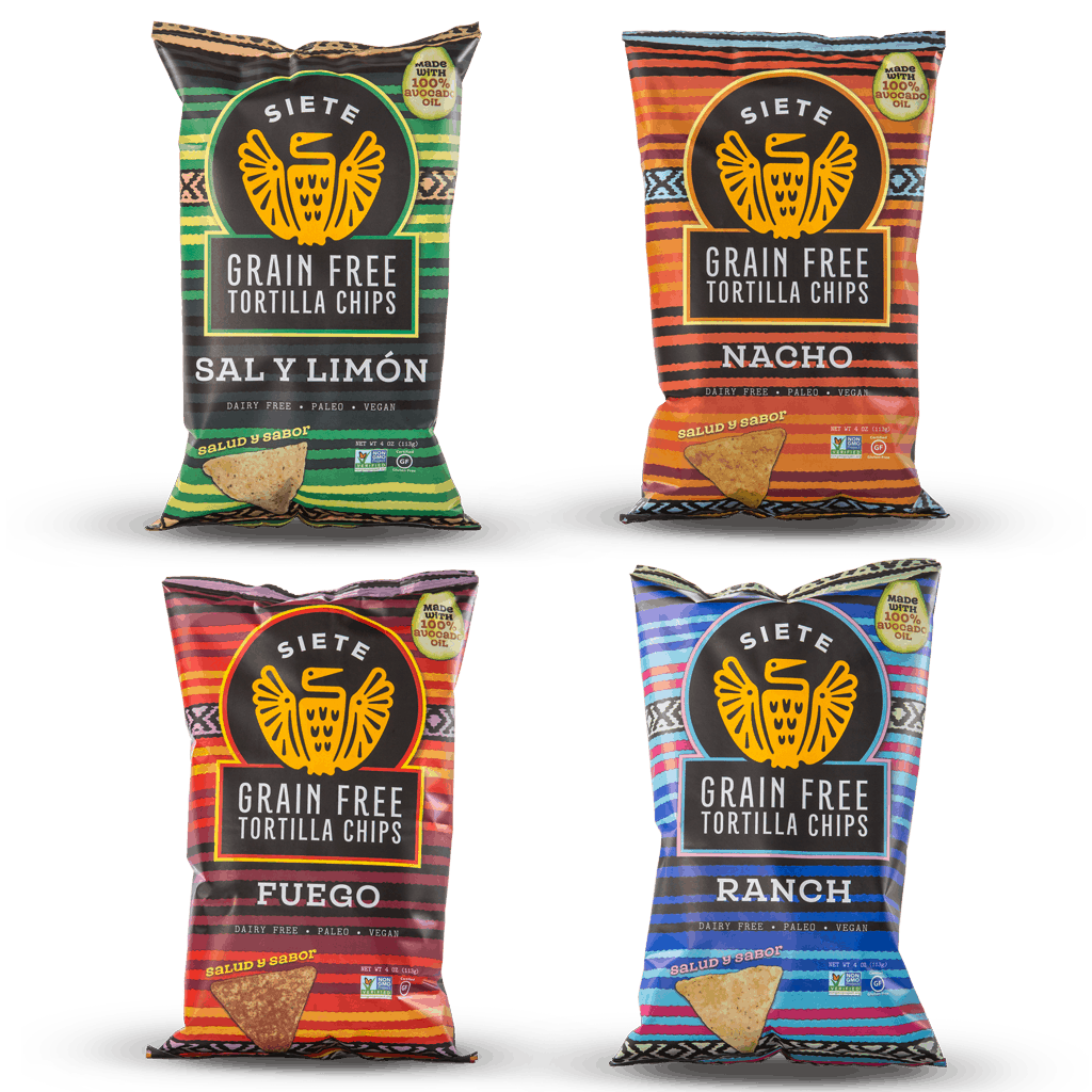 Siete Grain-Free, Paleo Vegan Tortilla Chips #madeinusa #paleo #vegan #chiaseeds #familybusiness #smallbusiness #chips #appetizers #gameday