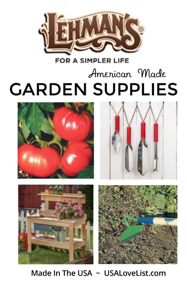 Made in USA gifts for gardeners: Lehman's garden supplies