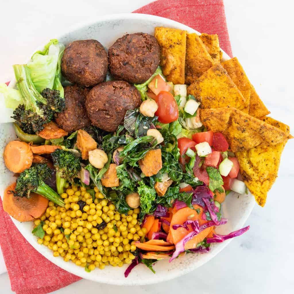 Fast Casual Vegan Dining - roti Vegan Falafel Bowl
