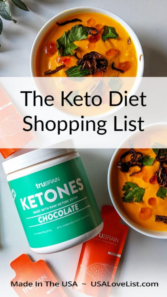 Keto shopping list- American made products we love #keto #ketodiet #usalovelisted