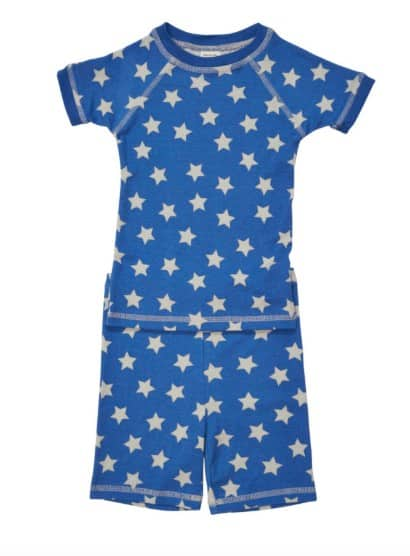 Made in USA Summer Clothing for Kids: Brian the Pekingese organic cotton PJs #usalovelisted #madeinUSA #pajamas #summer