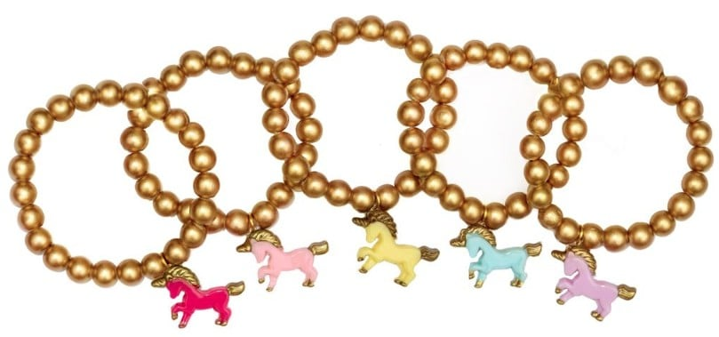 Easter basket ideas for kids: Gold unicorn bracelets from AnyTownUSA #usalovelisted #Easter #madeinUSA