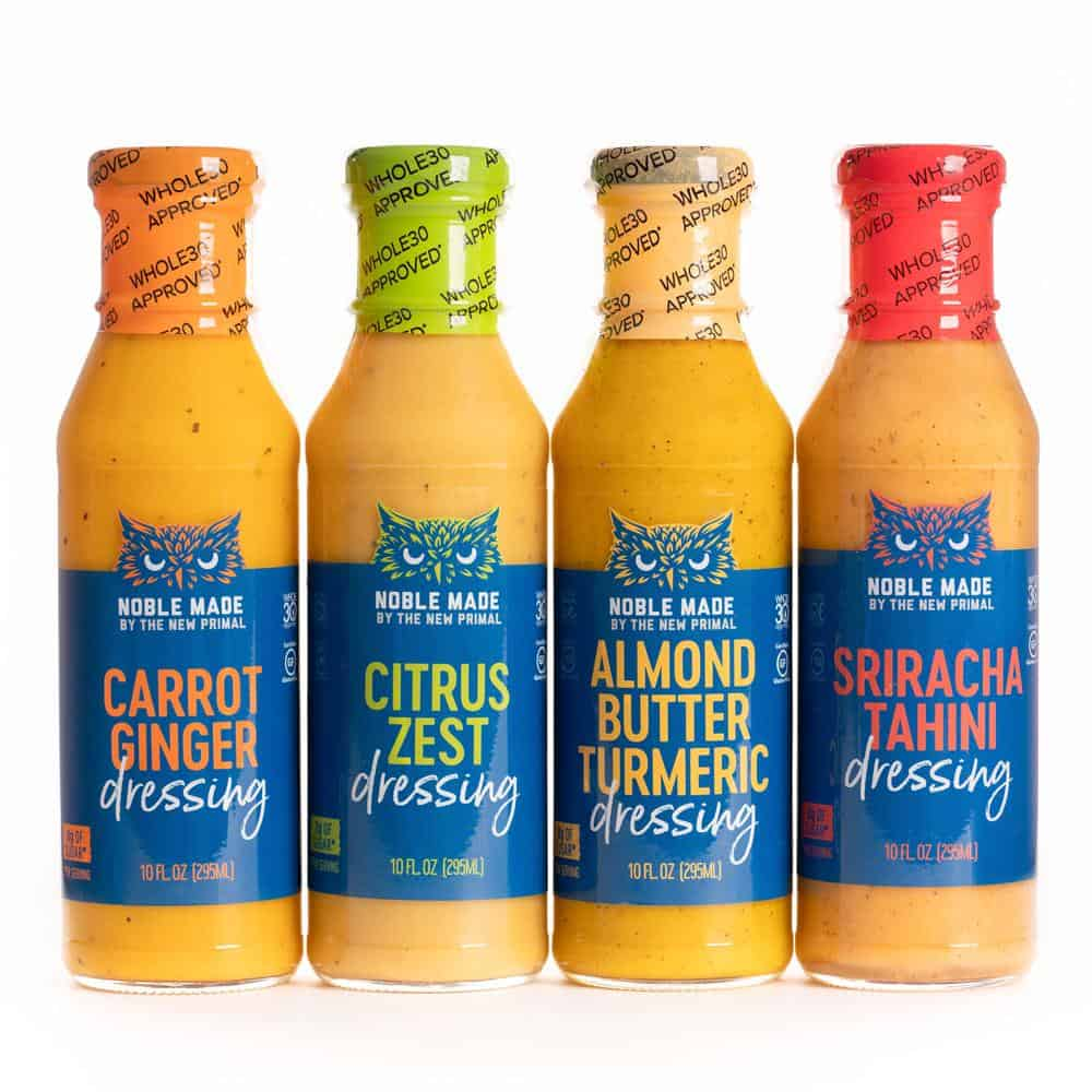 Noble Made by The New Primal Whole30 Approved Dressings - Sugar-,Soy-, Dairy-Free Dressing