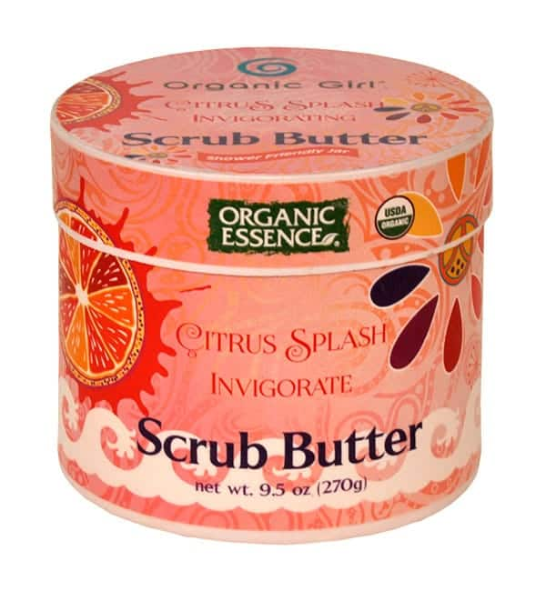 Organic Essence Citrus Splash Scrub Butter - Non-Toxic, Vegan, Plant-Based Beauty Products - Made in USA
