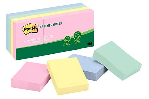 Eco Friendly school and office supplies: Post It Greener Notes #usalovelsited #madeinUSA #backtoschool #schoolshopping
