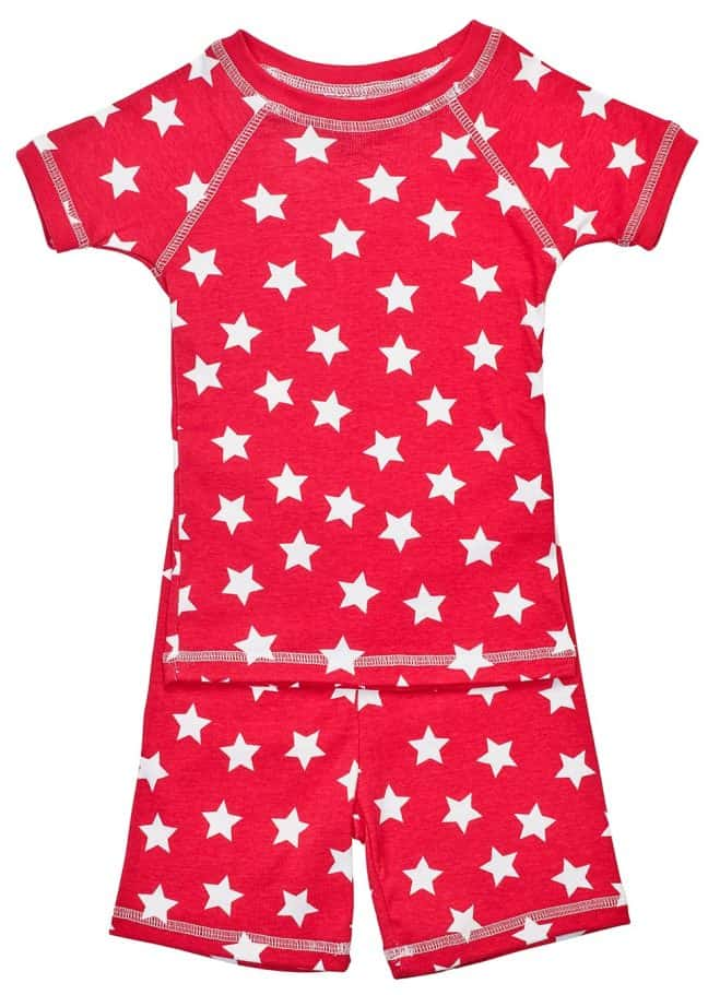 Patriotic items made in USA: Patriotic children's pajamas from Brian the Pekingese #usalovelisted #organic #patriotic #fourthofJuly