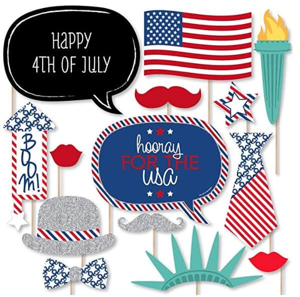 Patriotic items made in USA: Big Dot of Happiness patriotic part supplies #usalovelisted #party #fourthofjuly #patriotic