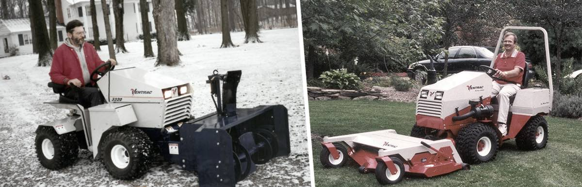 Ventrac is a source for specialized lawn equipment made in the USA.