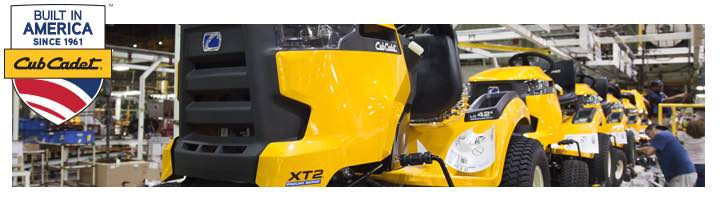 Cub Cadet's lawn equipment is made in the USA