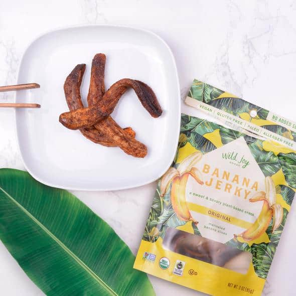 Wild Joy, the best thing to happen to bananas. Vegan, Paleo, Gluten-Free, Organic Banana Jerky #madeinusa #vegansnacks #snacks #paleo #bananas