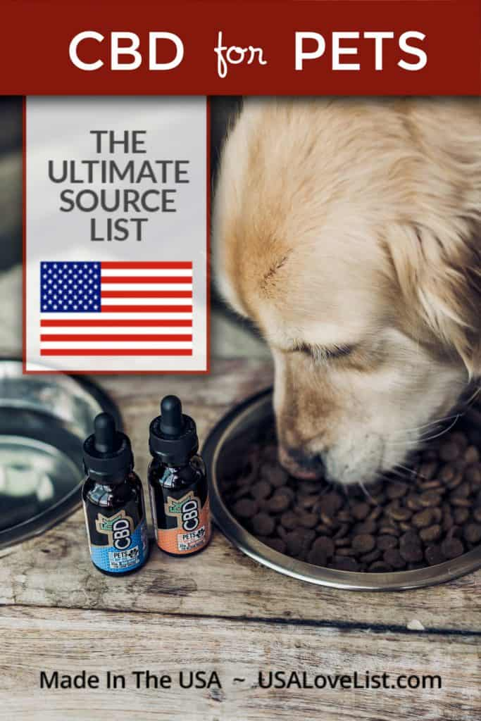 CBD for Pets: Made in USA CBD Products. Is CBD safe for pets? #cbd #pets #usalovelisted