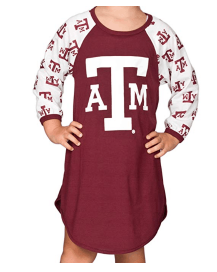 Made in USA clothing for Kids: TJs PJs collegiate pajamas for kids #usalovelisted #pajamas #collegiate