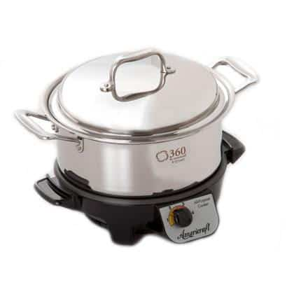 Giveaway: Made in USA Cookware- 360 Cookware stock pot with lid and slow cooker.