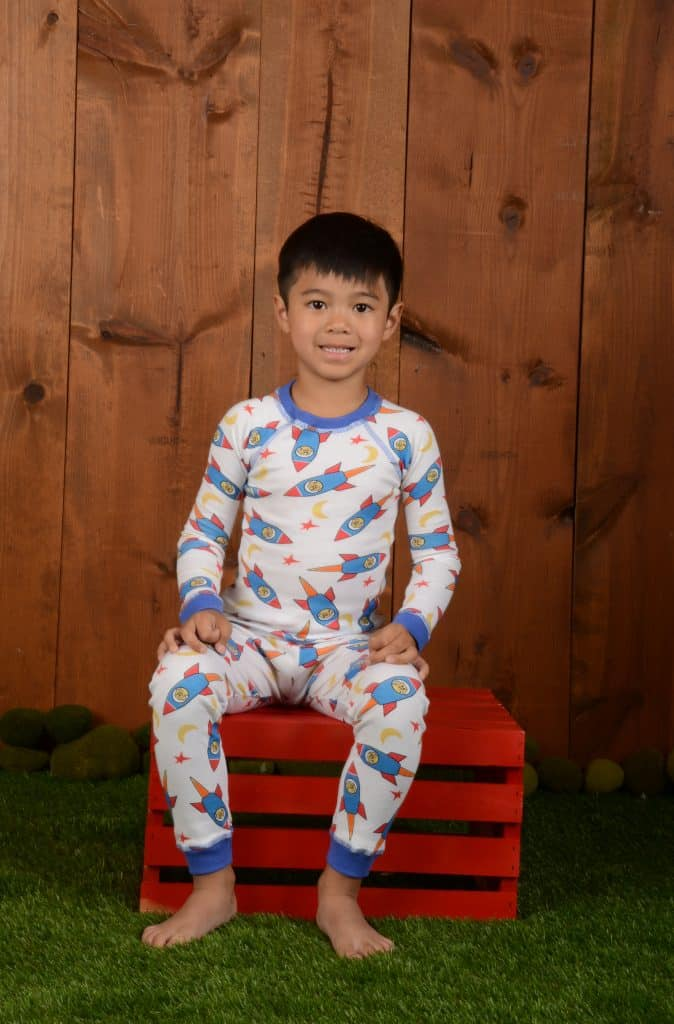 Made in USA Children's Pajamas: Brian the Pekingese organic cotton PJs #usalovelisted #pajamas #kidsclothing #organic