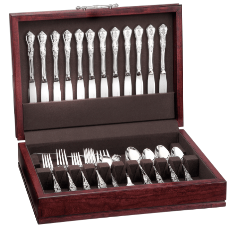 Best Wedding Gifts: The Ultimate Wedding Gift: Chest & Flatware Bundle Special Save 15% off and receive free shipping when you bundle a flatware chest with your new 65 piece or 45 piece set in the Lux or Heritage lines. Choose from two beautiful chests (Adams or Hamilton) and 17 different Liberty Tabletop flatware patterns #usalovelisted #madeinUSA #LibertyTabletop