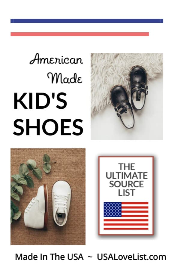 Made in USA Shoes for Kids via USAlovelist.com