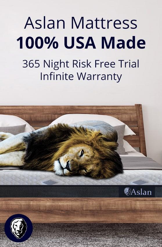 Buying a Mattress Made in USA: Aslan Mattress Save 10% on Aslan mattress and pillow orders with promo code USALOVE.