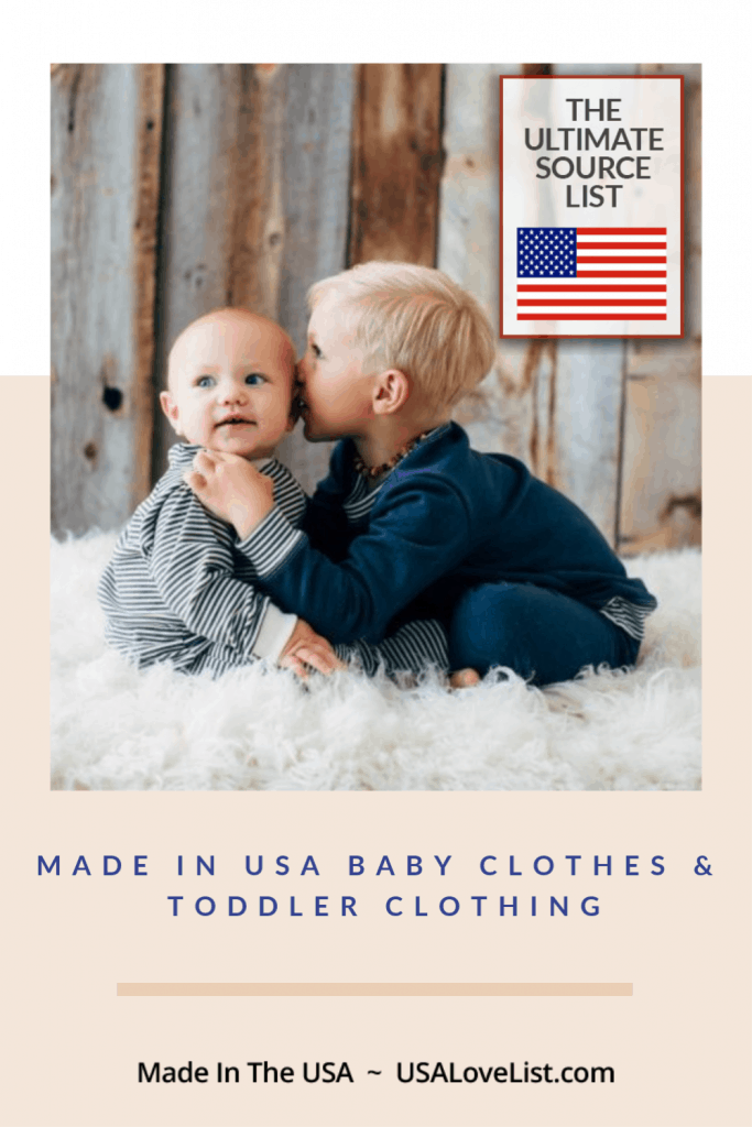 Made in USA Baby Clothes & Toddler Clothing #usalovelisted #babygifts #babyshower #toddler #baby