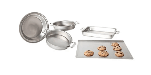 360 Bakeware: Made in USA 5 piece stainless steel bakeware set