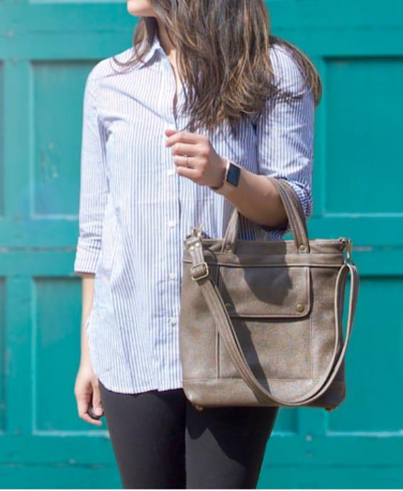 American made handbags we love: Jenny N customizable leather handbags #usalovelsited #madeinUSA #handbags #leather