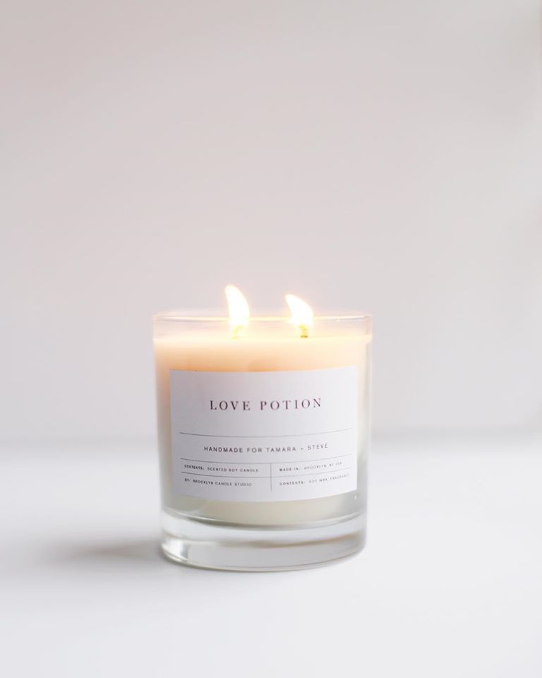 American Made Soy Candles from Brooklyn Candle Studio - Love Potion.