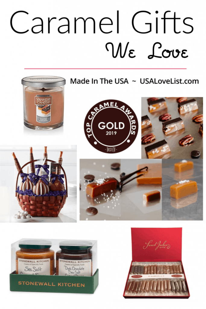 Made in USA Caramel Gifts We Love #caramel #foodiegifts #giftideas #usalovelisted