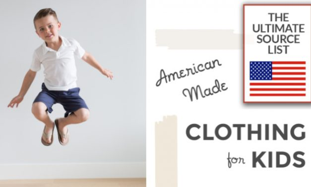 Made in USA Clothing for Kids : The Ultimate Source List