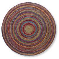 L.L. Bean Braided Wool Rug, 6' Diam.