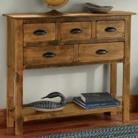 Rustic Wooden Hall Console