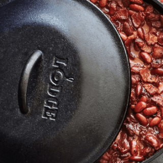 Dutch Oven Chili With Toppings