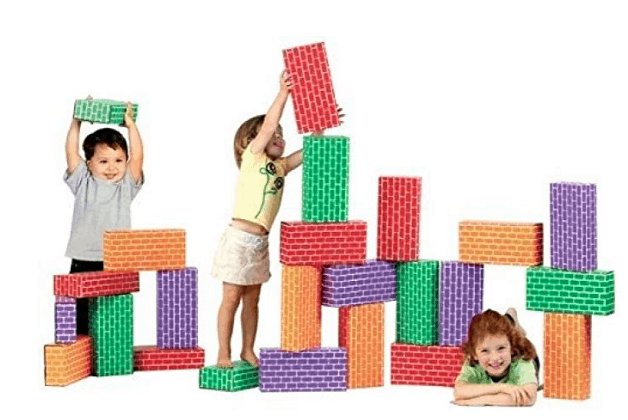 Smart Monkey Giant Blocks: Made in USA Building Blocks for Kids