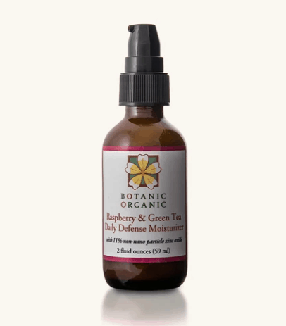 Made in USA Gift for Tea Lovers: Botanic Organic Raspberry & Green Tea Daily Defense Moisturizer