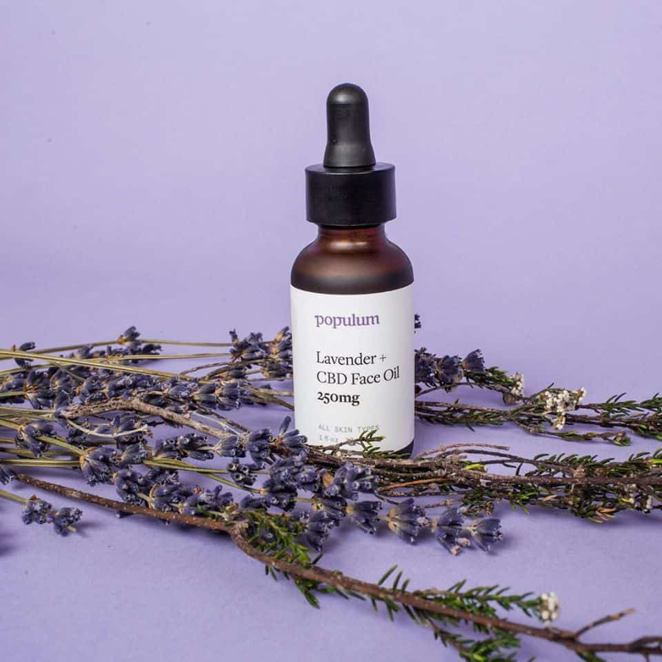 populum Lavender + CBD Face Oil 250 mg - Made in USA #CBD #nontoxicskincare
