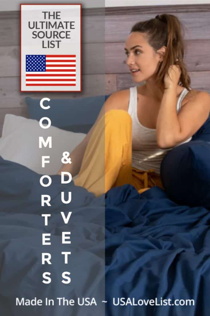 Made in USA Comforters and Duvets #usalovelisted #madeinUSA #home #dorm