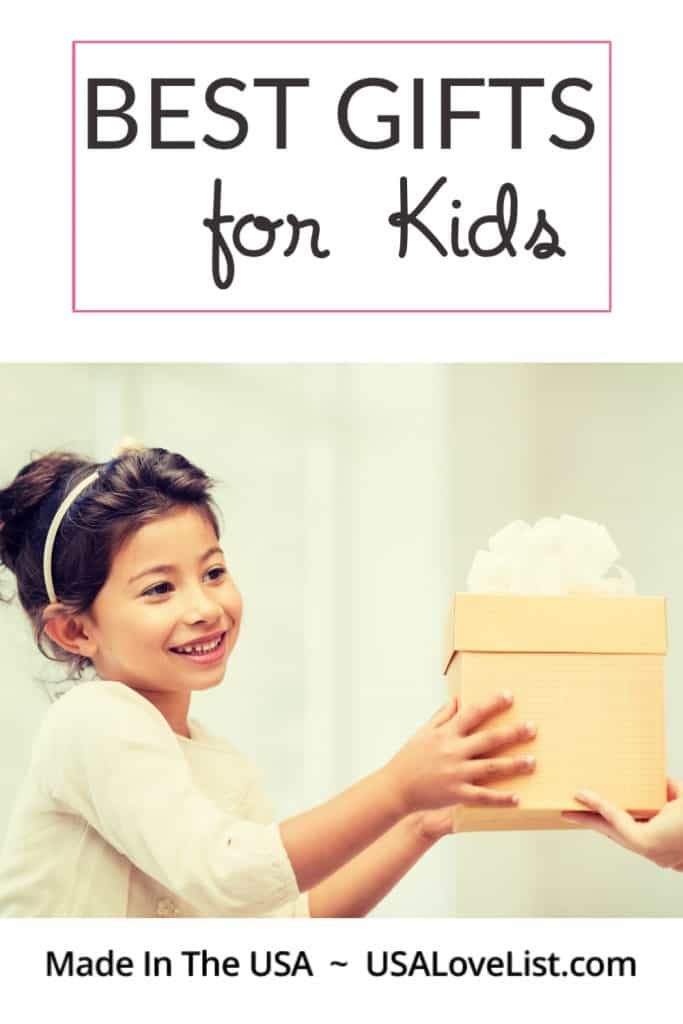 Best Gifts for Kids, all made in the USA via USAlovelist.com