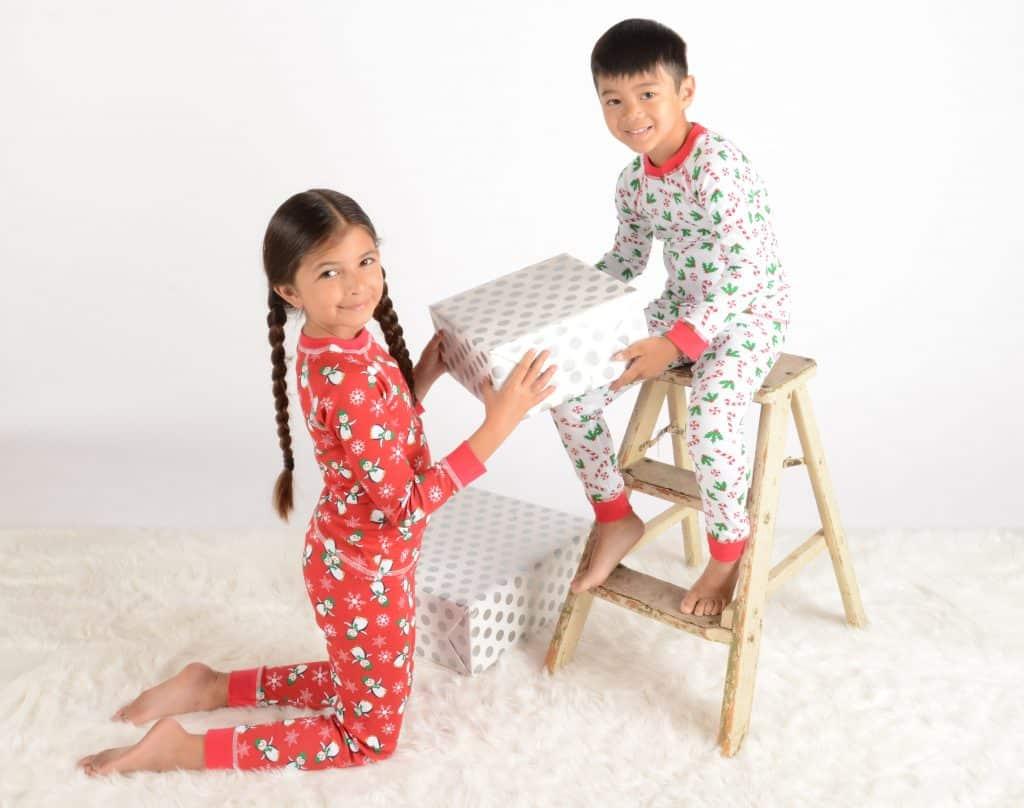 Clothing Gifts for Kids: Brian the Pekingese Christmas pajamas #madeinUSA #usalovelisted #Christmas #gifts #pajamas