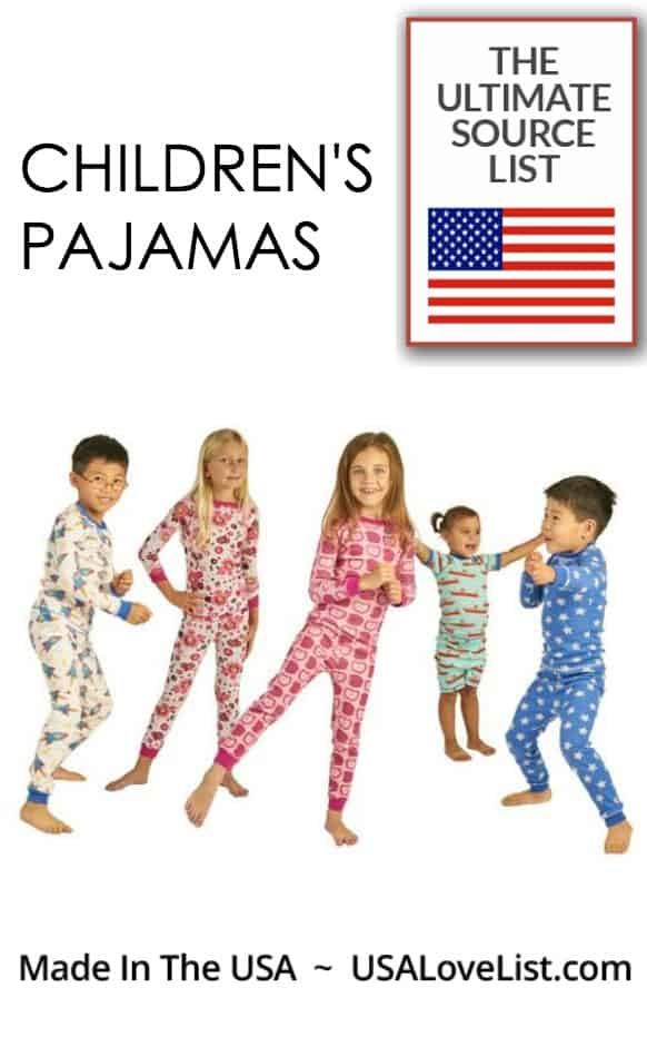 Childeren's Pajamas, Made in USA #usalovelisted #kidsclothing #pajamas