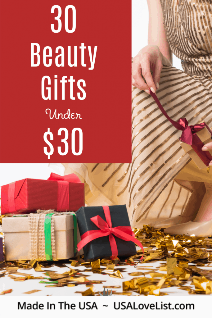 30 Gifts under $30 all made in USA via USALoveList.com #usalovelisted #giftideas #madeinUSA