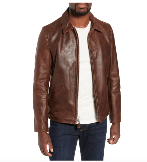 Luxury Gifts for Men: Schott NYC leather jacket #usalovelisted #madeinUSA #luxury