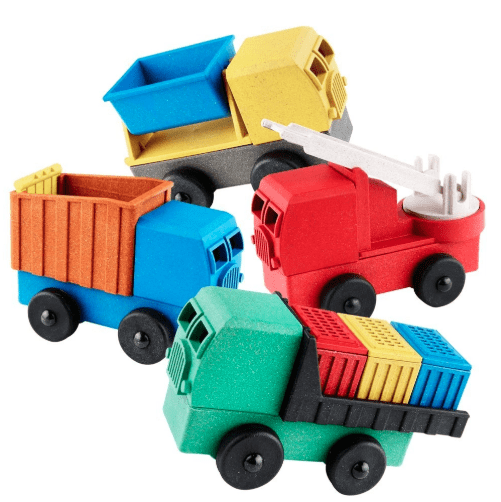 Best Gifts for Kids: Luke's Toy Factory Eco friendly stacking puzzle trucks #usalovelisted #toys #gifts