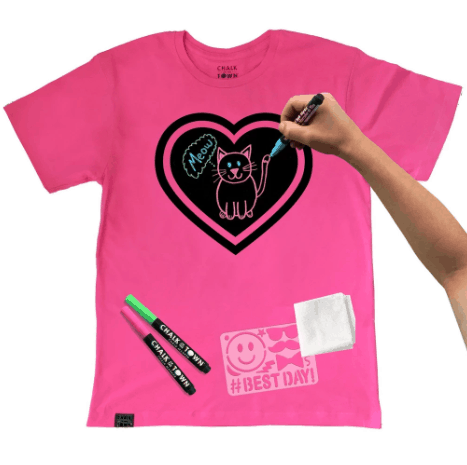 Clothing Gifts for Kids: Chalk of the Town Chalk Board T-shirt Kit #usalovelisted #giftsforkids