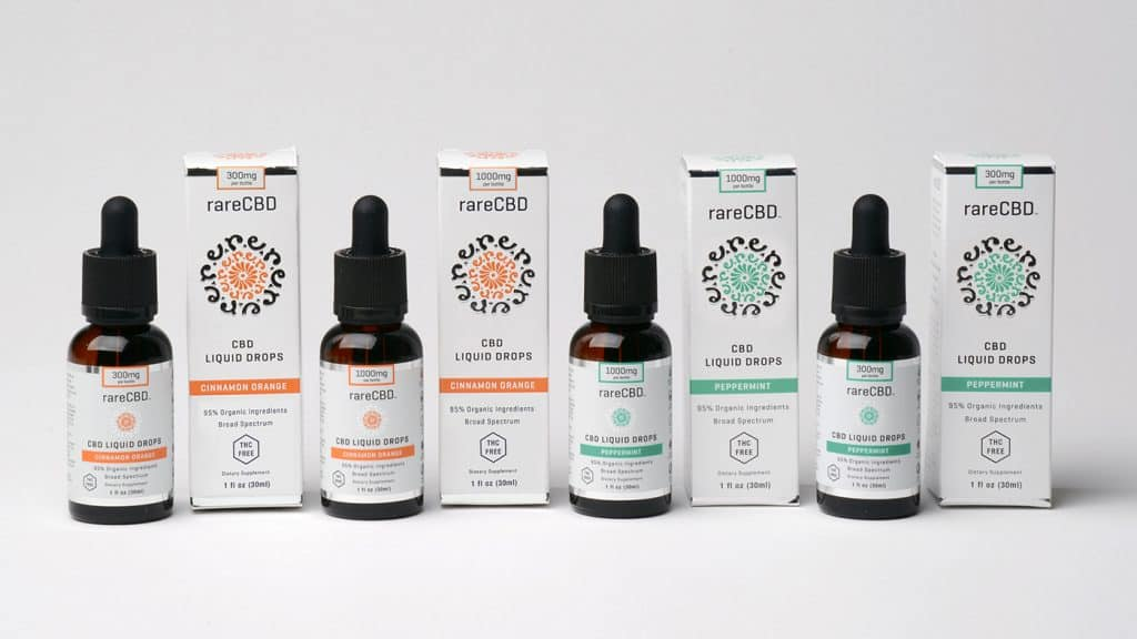 rareCBD 95% Organic Liquid Drops - Highest quality essential oils and CBD Beauty Products - Non-Toxic Beauty Products Made in USA
