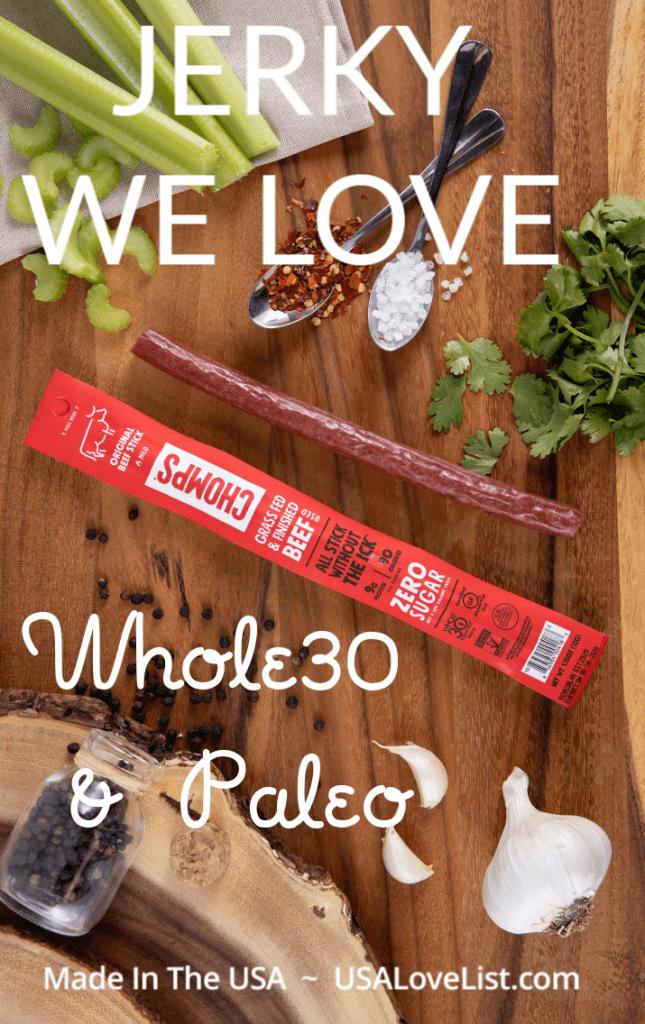 Paleo and Whole30 jerky options we love #usalovelisted #paleo #whole30