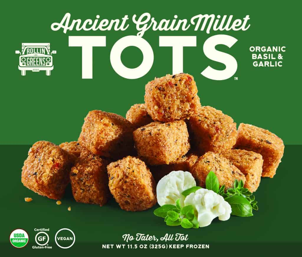 Review - RollinGreens Millet Tots and Cauliflower Wings - Vegan, Gluten-Free Millet Tots Made in USA