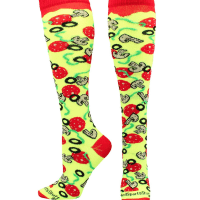 MadSportsStuff Pepperoni Pizza Athletic Over The Calf Socks