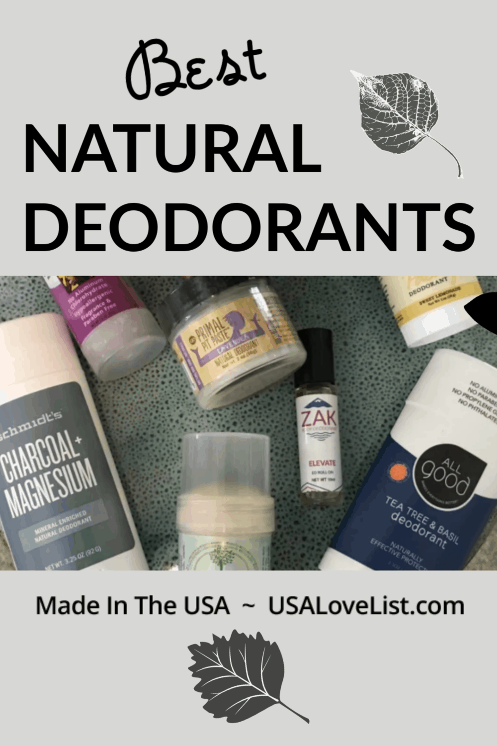 Best natural deodorants made in USA