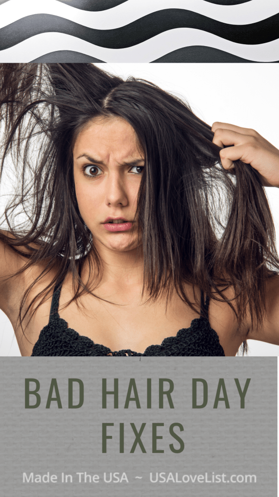 Bad hair day fixes with made in USA product we love #usalovelisted #hair #hairproducts