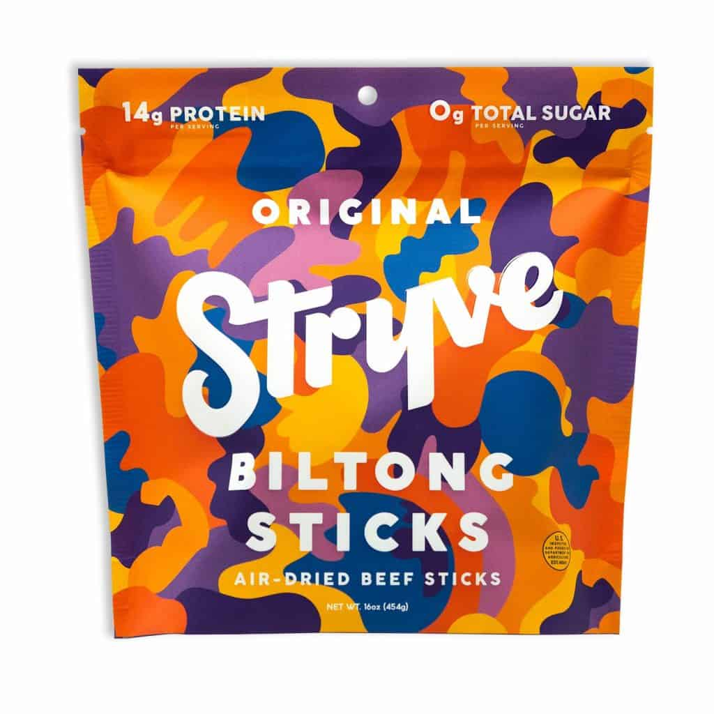 Stryve Biltong - American Made High Protein Beef Biltong Jerky