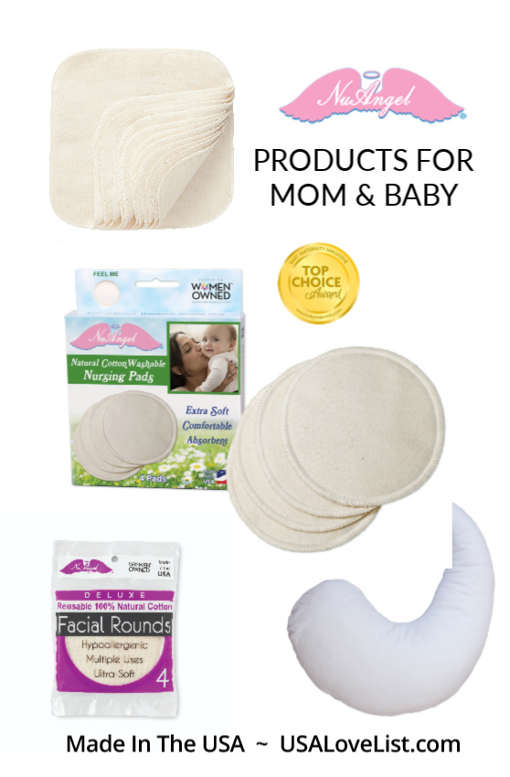Made in USA Baby Products: NuAngel award winning products for mom and baby